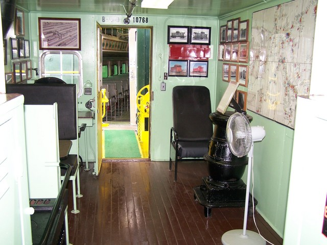 Burlington Northern Caboose Interior